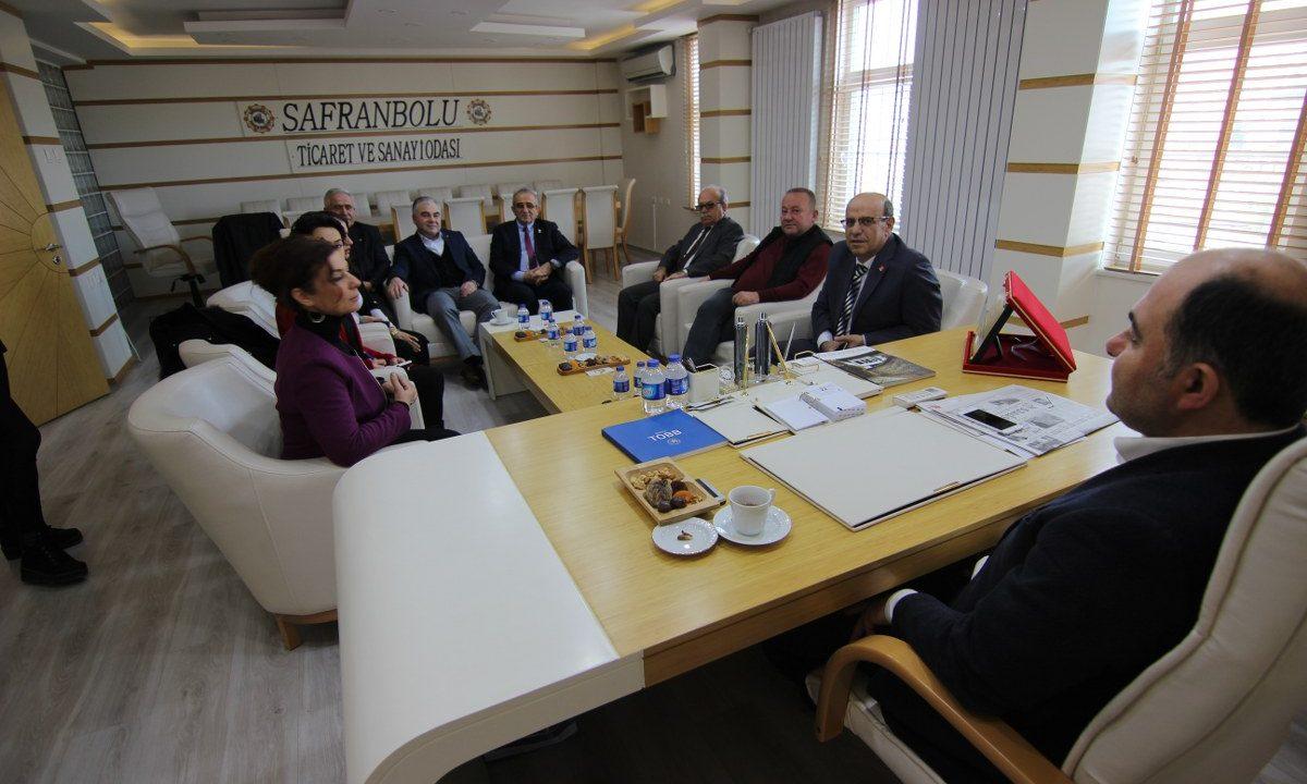 CHP SAFRANBOLU BELEDİYE BAŞKAN ADAYI ELİF KÖSE'DEN ODAMIZA ZİYARET