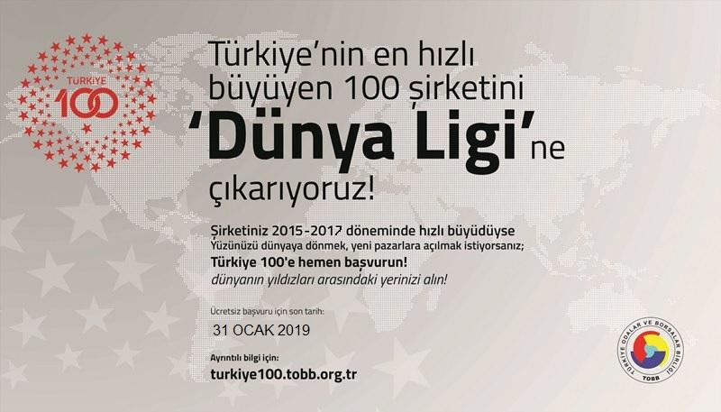 TOBB TÜRKİYE 100 HAKKINDA